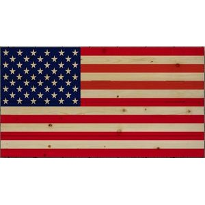 American Flag - wood plaque 11x14