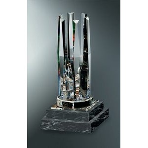 Fine Lead Crystal Symphony Award w/ Marble Base