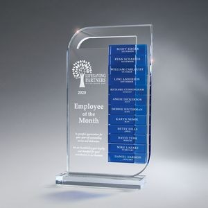 Clear Lucite Perpetual Award, Large (Glass Bars Sold Separately)