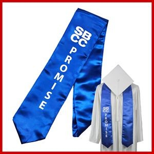Domestic Graduation Screen Print Stole