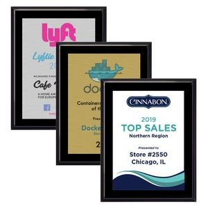 "5"" x 7"" High Gloss Black Finish Plaque w/ Full Color Sublimated Imprint"